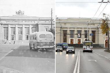 Anksčiau ir dabar: kaip atrodė Kauno geležinkelio stotis?
