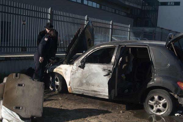 "Vilniuje sudegintas teisininko ""Chrysler Cruiser"""