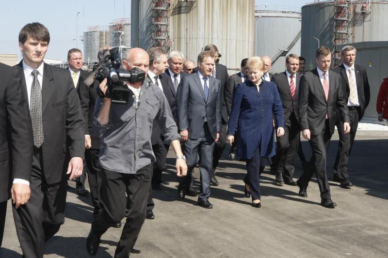 Termofikacinę jėgainę atidarė Lietuvos ir Suomijos prezidentai