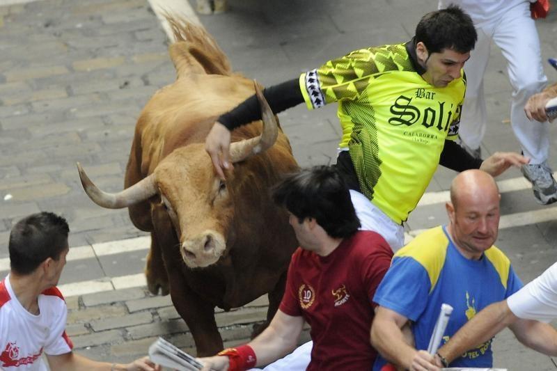 Ispanijoje per bulių varymą nukentėjo dar keturi bėgikai
