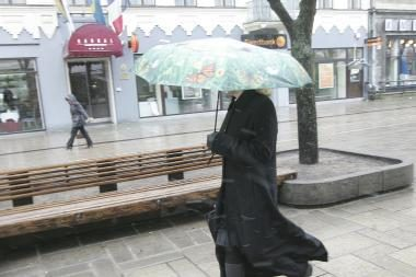 Orai Kaune: atvės, lis, gali kristi šlapdriba