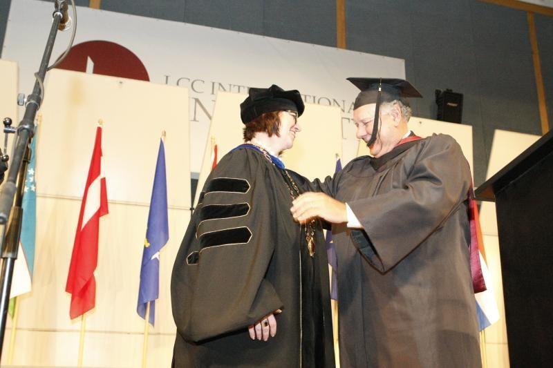 LCC tarptautiniame universitete inauguruota šeštoji rektorė