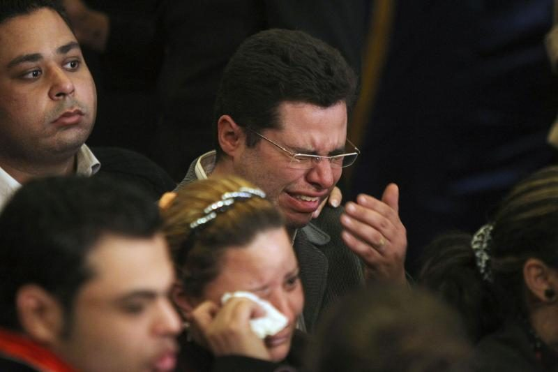 Gedintys koptai atsisveikina su popiežiumi Shenuda III