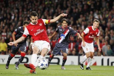 """Futbolo Čempionų lyga: šeši """"Arsenal"""" įvarčiai"""