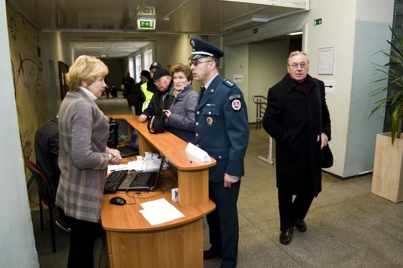 Rinkimų dieną policija gavo 164 pranešimus apie galimus pažeidimus