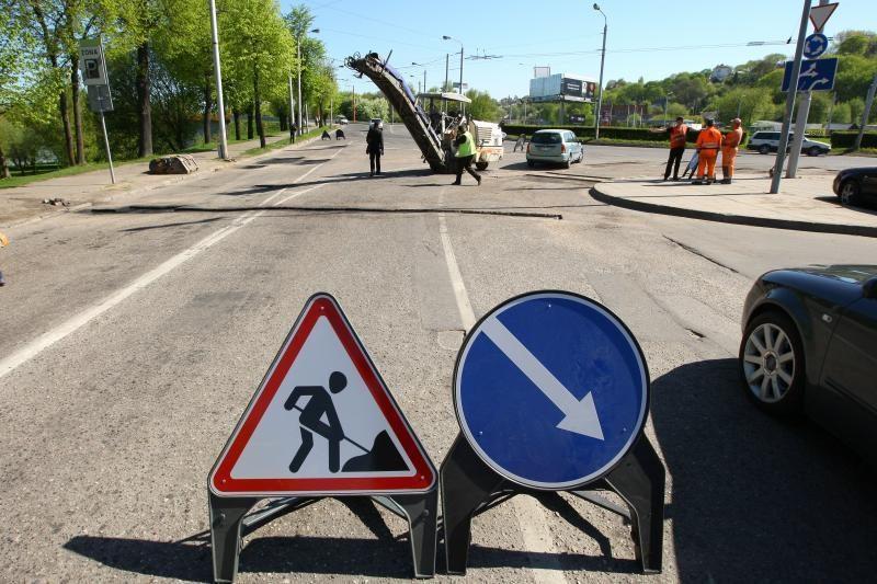 Dėl gatvės remonto laikinai uždaroma dalis Jonavos gatvės
