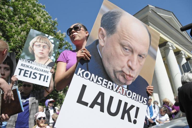 Vilniuje į mitingą rinkosi žmonės, sujaudinti vaiko likimo