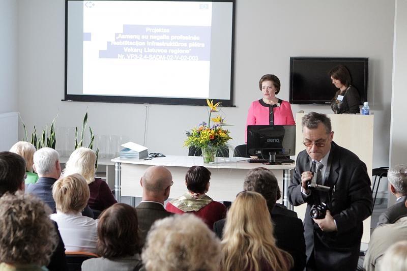 Klaipėdoje neįgaliesiems atidarytas darbo reabilitacijos centras