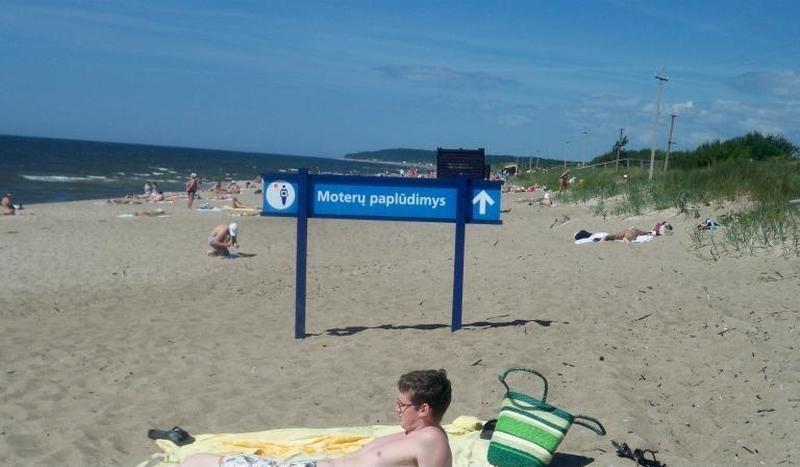 Staigmena Melnragėje: dingo moterų paplūdimys