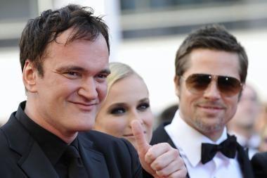 """Kanuose pristatytas Q.Tarantino filmas """"Negarbingi šunsnukiai"""""""