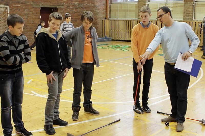 Geriausiai golfą žaidžia S.Dacho progimnazijos moksleiviai