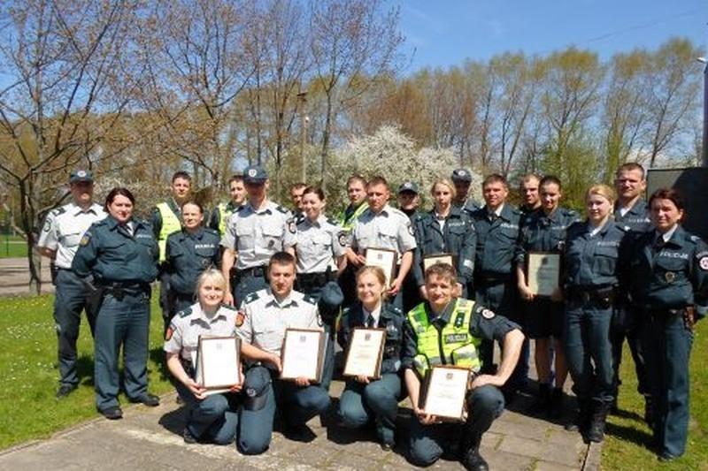 Išrinkti geriausi uostamiesčio viešosios policijos pareigūnai