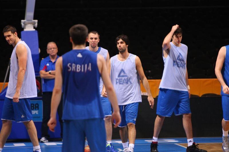Po treniruotės – serbų trenerio ir žurnalistų konfliktas