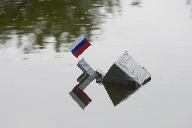 Prie Rusijos ambasados protestuotojai išsakė solidarumą Gruzijai