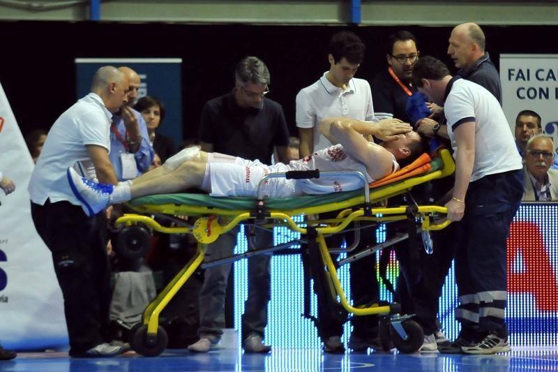 J.Mačiulis patyrė traumą Italijos lygos rungtynėse