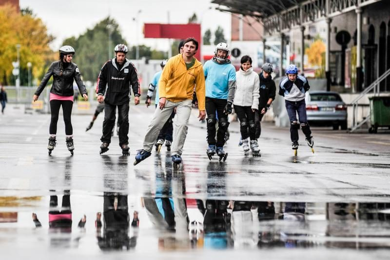 Kauno riedučių maratoną sugadino prastas oras