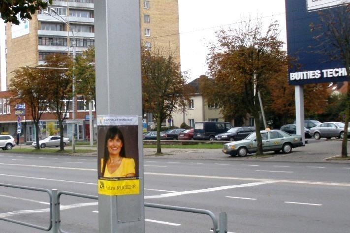 Į Seimą susiruošusi A.Ručienė reklamuojama nepaisant taisyklių