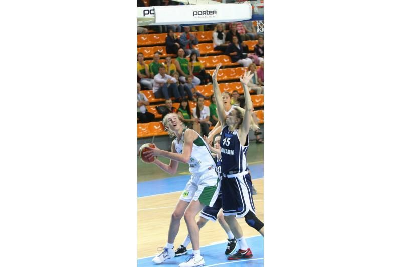 Lietuvos moterų krepšinio rinktinė nugalėjo slovakes 78:64