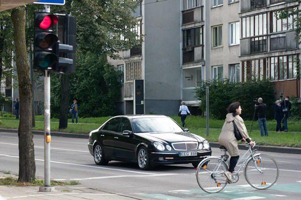 Panevėžyje partrenktas garbaus amžiaus dviratininkas