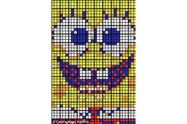 Tikrasis kubizmas: meno kūriniai iš Rubiko kubų