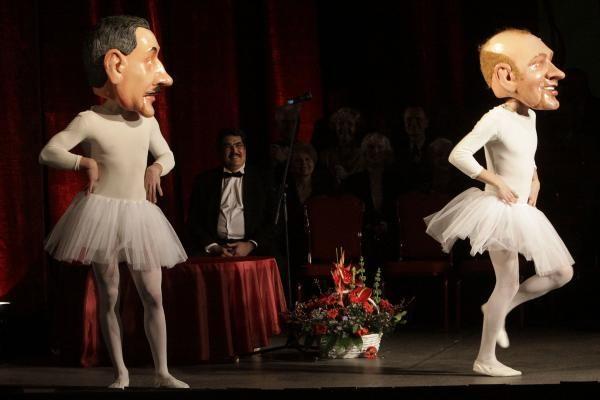 Kauno muzikinio teatro 70-mečio koncerte - baleto parodija