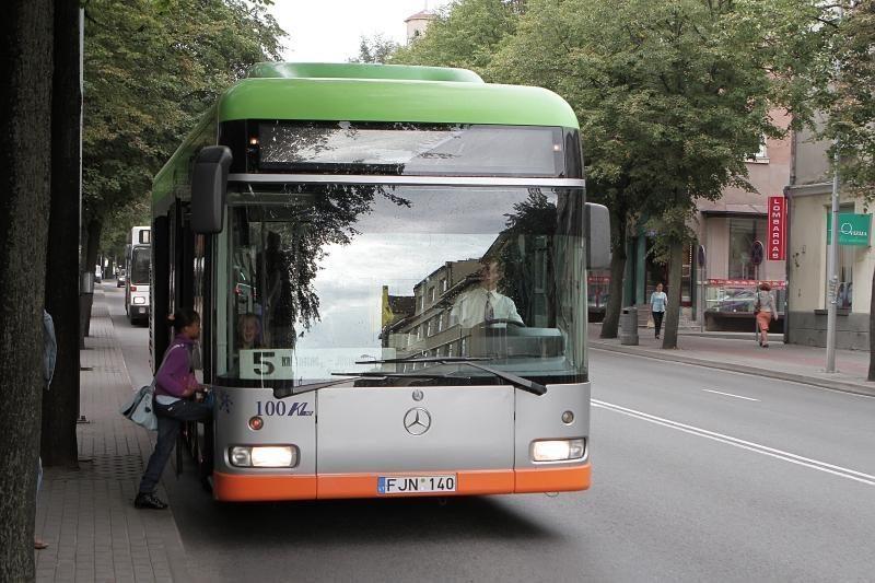 Klaipėdos autobusų keleivių skaičius sumažėjo