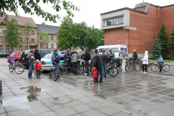 Lietus nesutrukdė dviračių registracijos