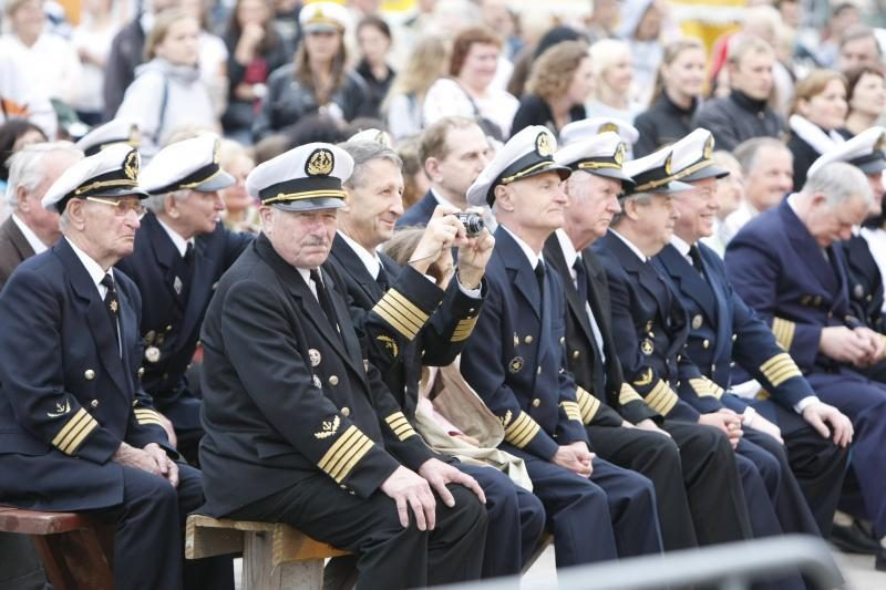 Metų jūrininkas šventė laive