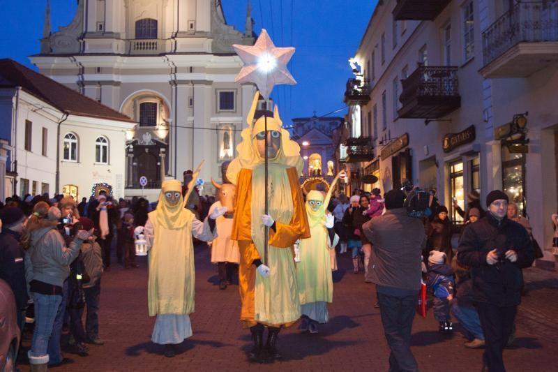 Trys karaliai sostinėje skelbė žiemos švenčių pabaigą