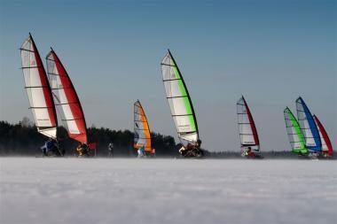 Ant Kuršių marių - Europos Ice-Blokart čempionatas