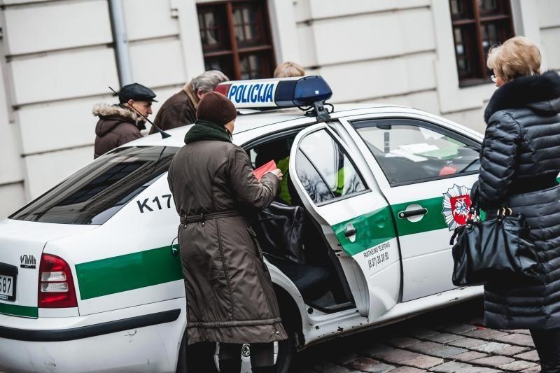 Rotušės aikštėje – baudų lavina vairuotojams