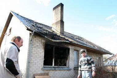 Klaipėdos r. dūmuose užtroško vyras