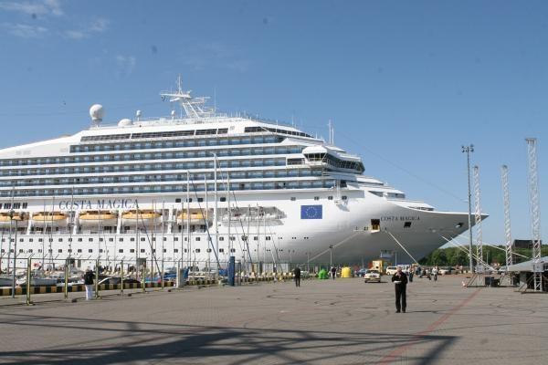 Klaipėdoje - vienas didžiausių Italijos kruizinių laivų