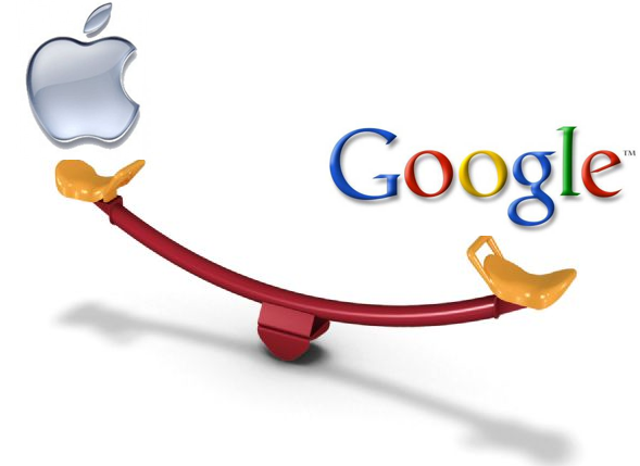 """""""Google"""" prieš """"Apple"""": kuris kurį įveikė?"""