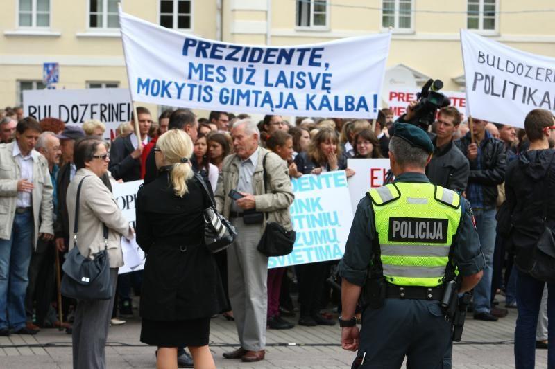 Lenkų protesto organizatoriai nekviečia į Vilnių paramos iš užsienio
