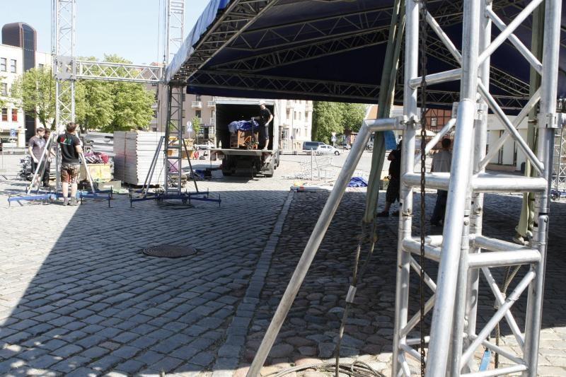 Klaipėdos džiazo festivalis: jau statoma scena