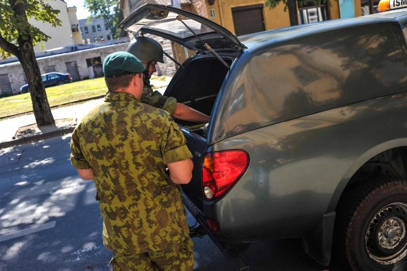 Centro policijos komisariate – aliarmas dėl sprogmenų