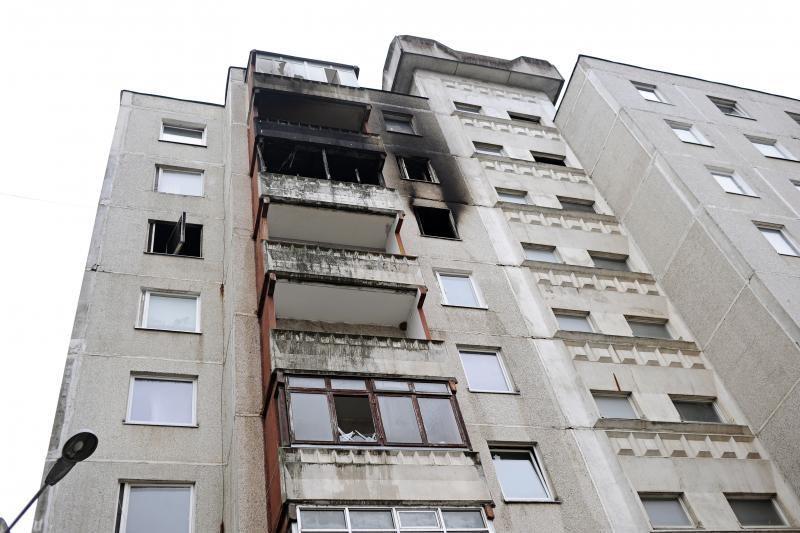 Pražūtingą gaisrą sukėlęs įtariamasis atsidūrė ligoninėje