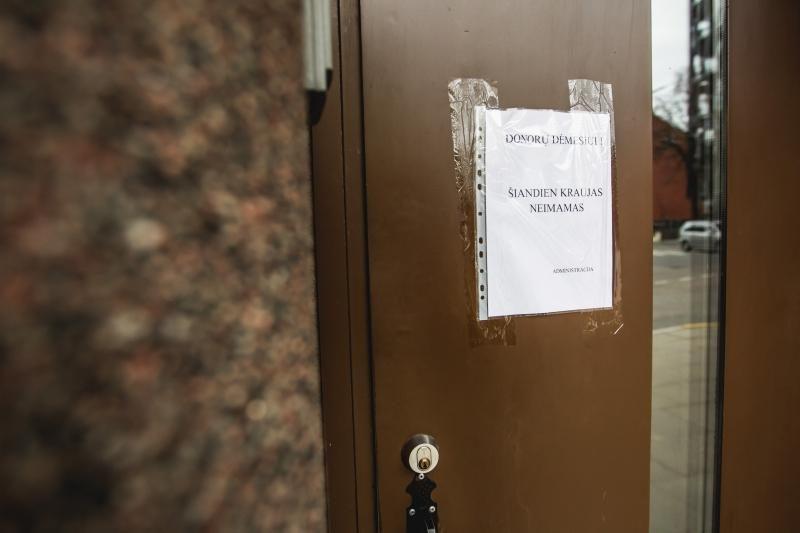 Kraujo centro veikla – sustabdyta, donorus priims Kauno klinikos