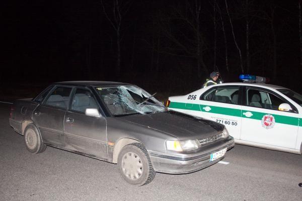 Automobilis partrenkė kelio viduriu ėjusį vyrą