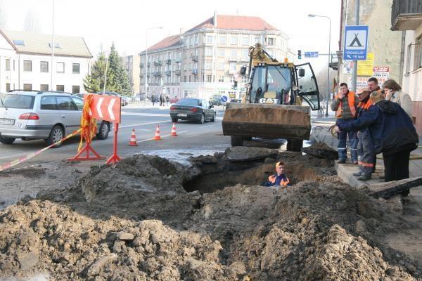 Vandentiekio avarija Minijos gatvėje sukėlė spūstis