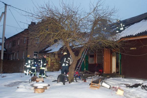 Šįryt liepsnojo namas Paupio gatvėje Vilniuje