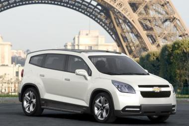 """Naujasis šeimos automobilis """"Chevrolet Orlando"""" sužibės Paryžiuje"""