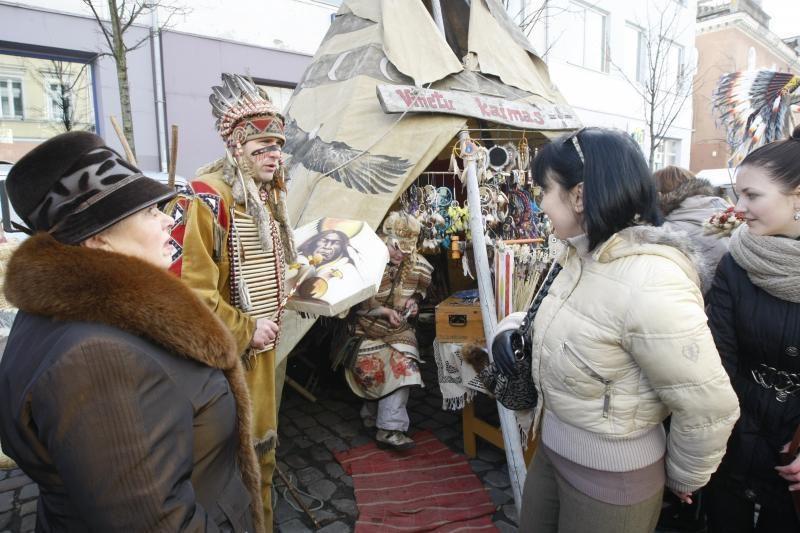 Kaziuko mugėje Klaipėdoje – ir indėniški motyvai