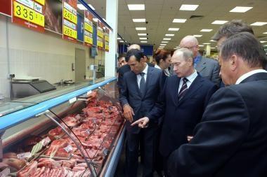 V.Putinas surengė spektaklį prekybos centre