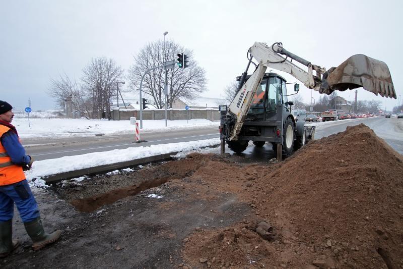 Liepų gatvėje - vandentiekio avarija, apribotas eismas (papildyta)