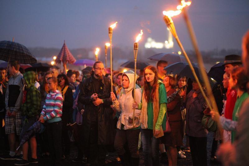Kaune susirinko tūkstančiai tikinčiųjų