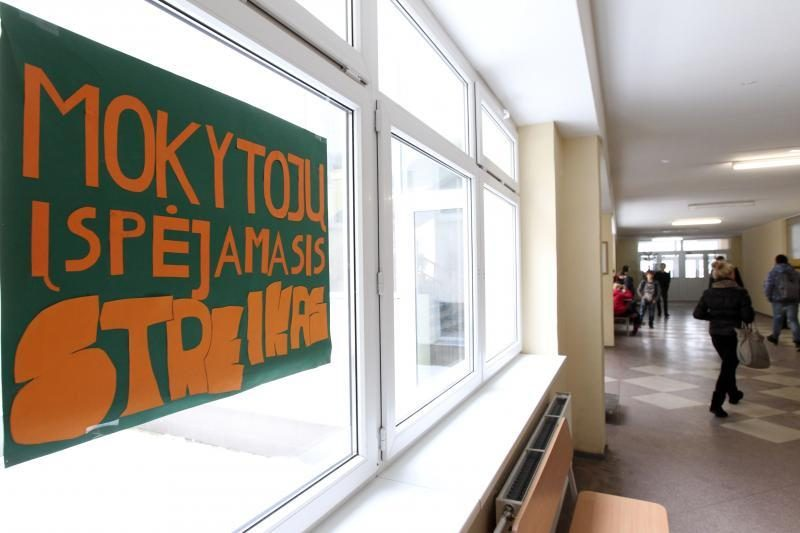 Šešiose Zarasų rajono mokyklose dėl streiko nevyksta pamokos