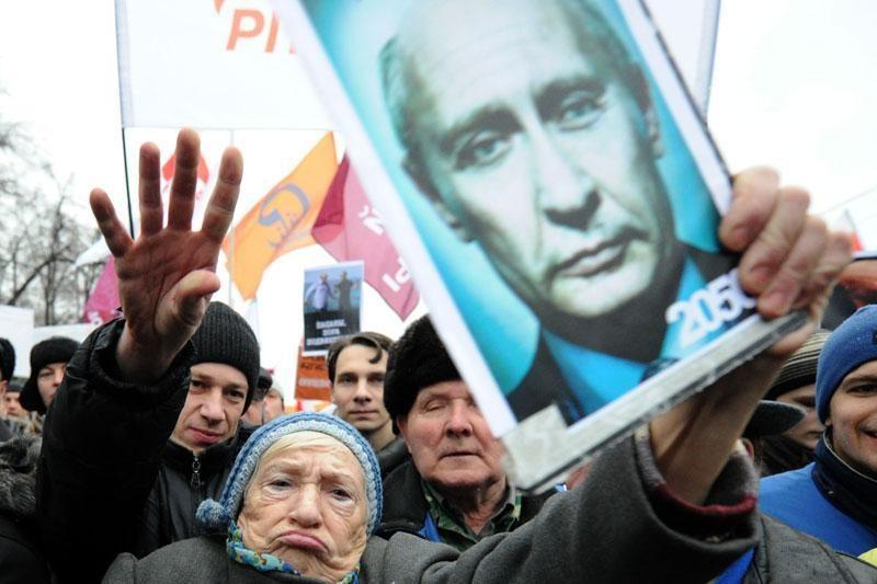 Rusijoje rengiamo mitingo pagrindinis šūkis: nebalsuok už Putiną
