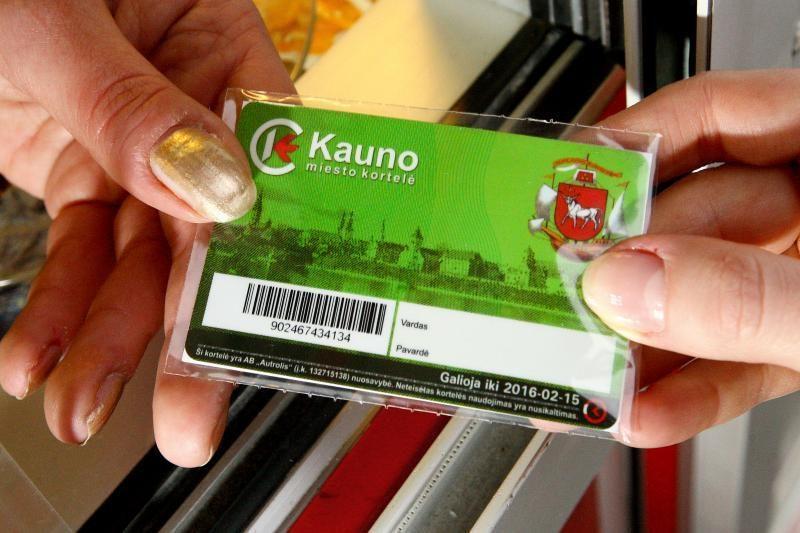 Naujos e. bilieto kortelės kaina – keturiskart didesnė
